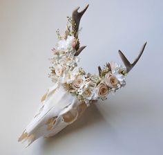 MeghanLaCroix.com - Deer Skull with Preserved Flower Crown