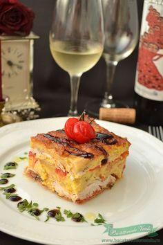 In urma cu ceva timp, mai exact cu 2-3 ani in urma discutam cu o cunostinta ce sa mai gatim. Si asa din vorba in vorba am ajuns si la aceasta reteta de Piept de pui cu ardei copti la cuptor pe care acum am si pregatit-o. Nu bag mana in foc ca reteta este Romanian Food, Time To Eat, Yams, French Toast, Good Food, Healthy Eating, Cooking Recipes, Sweets, Diet