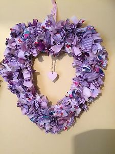 Heart-Shabby-Chic-Rag-Wreath-Personalised-Heart