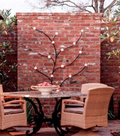 Brick • Taller walls should be installed by a professional