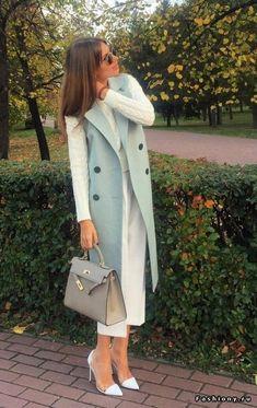 Trajes Business Casual, Business Casual Outfits, Classy Outfits, Fashion Business, Modest Fashion, Hijab Fashion, Fashion Dresses, Iranian Women Fashion, Womens Fashion