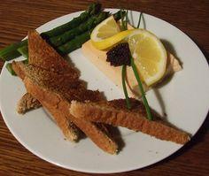 Mousse de saumon et aspèrges, entrée