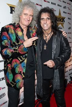 Brian May and Alice Cooper attend the Classic Rock Roll of Honour at The Roundhouse