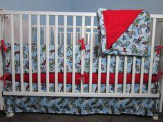 NEW Motocross Dirt Bike Baby Crib/Toddler Bed by KlinkerMade, $185.00