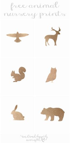 Free Animal Silhouette Printables