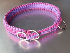 K I N G ~ C O B R A ~ D O G ~ S L I P~ C O L L A R  I T E M ~ D E T A I L S   Handmade Paracord Dog Collar in a King Cobra Weave. Your collar