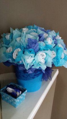 Boy diaper flower bouquet
