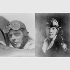 Charles Lindbergh and Amelia Earhart -  talented people! I do not know the author of this picture is, but I chose it because I think it relates to my problem was to find out!