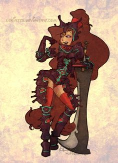 Disney princesses and other lead female characters as Final Fantasy X-2 classes by xsKiRtZx    Megara as a Dark Knight