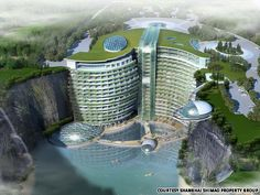 China: Luxury hotel 'groundscraper' planned in abandoned quarry