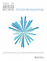 Alaska ranked top of Gallup's wellbeing index for each state in America. Part of the broader push for governments to factor wellbeing/happiness into national metrics.