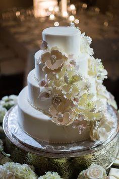 Featured Photographer: Eli Turner Studios; Wedding cake idea.