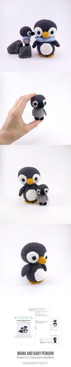 Mama and Baby Penguin amigurumi pattern