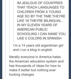 Well I mean I'm Dutch and I speak Fluent English, bearable Frisian, and a tiny bit French and German. So that's fun.