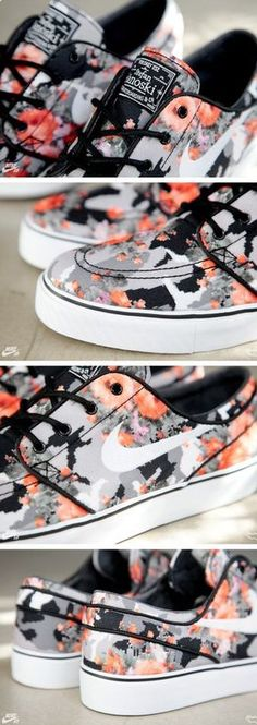 Nike SB Janoski Floral Mandarin Camo (Release Info Detailed) NEED THESE!nu nike free run fashion,nike shoes Nike Free 5.0, Nike Free Shoes, Nike Free Runs, Nike Outfits, Vans Outfit, Cute Shoes, Me Too Shoes, Souliers Nike, Flats