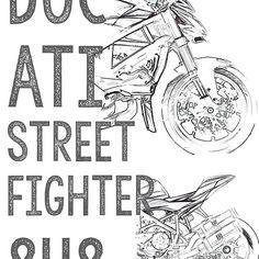 Streetfighter 848 Street Fighter, Ducati, T Shirt, Supreme T Shirt, Tee Shirt, Tee