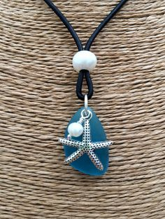 STARFISH and SEA Glass Leather & Freshwater by TheCharmingSister                                                                                                                                                                                 More