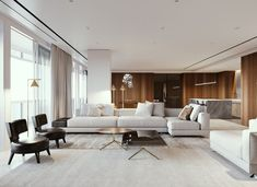 Ѥ 35 Secret Answers to Key Features and Design of Luxury Living Room Interior You Must Have Exposed omdeco - homeuntold Interior Design Minimalist, Contemporary Interior Design, Decor Interior Design, Contemporary Living Room Designs, Living Room Modern, Living Room Interior, Home Living Room, Living Room Tv Cabinet, Interior Livingroom