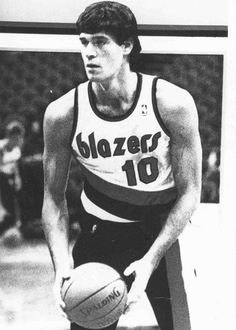 1986. Fernando Martin, first spanish basketball player to play in NBA, with Portland Trail Blazers.