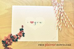 Freebie Download: Lovey Placemats | Smitten On Paper