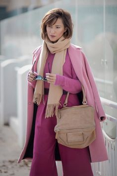 total pink, givenchy pandora bag, pink coat outfit, fall outfit ideas, autumn outfits, Ellena Galant,