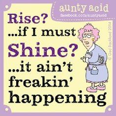 Aunty Acid Hates The Morning - Rise Without Shine