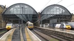London King's Cross Station architecture Train from Northallerton, Darlington Great Northern Cambridge Kings Lynn Prezzo Benito's Hat Wasabi cafe O'Neill's Pub Bar images photographs pictures photos pics