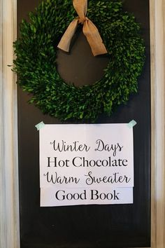Winter Chalkboard Quote perfect for a quick decor change, write your favorite winter saying on your chalkboard using these easy directions. Mason Jar Christmas Decorations, Christmas Mason Jars, Winter Quotes, Warm Sweaters, Winter Day, Hot Chocolate, Chalkboard Quotes, Good Books, Project Ideas