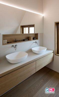 Salle de bain ambiance zen: 5 onmisbaar - Clem Around The Corner, Best Bathroom Designs, Modern Bathroom Design, Bathroom Interior Design, Modern Interior Design, Bathroom Ideas, Design Interiors, Bathroom Organization, Bathroom Storage, Budget Bathroom