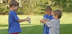 Boys' birthday party games--you don't have to rely on Silly String!