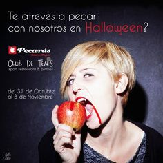 """Pecarás/Club de Tenis #yecla (@pecaras) ya está preparando una fiesta de """"miedo"""" para halloween ¿te atreves? te esperamos"""