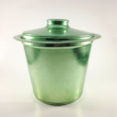 Vintage Green Color Craft Aluminum Ice Bucket