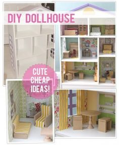 Small Christmas budget? This DIY dollhouse will make your daughter (or son if you can manage to make a garage or something) very happy! Will cost some time but won't cost a fortune ♥