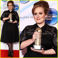 Adele hits the red carpet for the 2011 Barclaycard Mercury Prize at the Grosvenor House Hotel on Tuesday (September 6) in London, England.