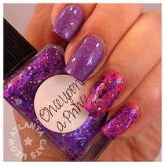 .Lynnderella Once Upon a Prince over Chanel Fracas and Nabi Dark Purple Holo