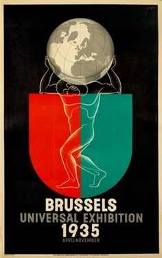 1935 #Brussels World #Expo #ExpoVintage #Expo2015