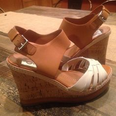 Dolce Vita Cork And Leather Wedges Almost new worn once Super cute Dolce Vita cork and leather wedges in size 8. Dolce Vita Shoes Wedges