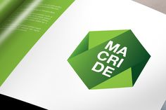 Macride is an acronym of Maurizio, Cristiano and Denise, three students that opened a company and decided to work together. Macride is also the name of the Greek nymph, daughter of Aristeo and Autonoe.  According to mythology, Macride raised the baby Dionysus feeding him honey. The shape of the logo is inspired by hexagonal shape of the cell in a beehive. The three green rectangles represent the three partners. Green is the color that communicates the strength of the youth and their hope…