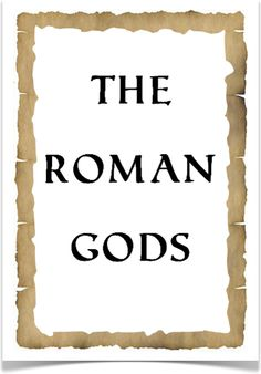 The Roman Gods - Treetop Displays - Downloadable EYFS, KS1, KS2 classroom display and primary teaching aid resource
