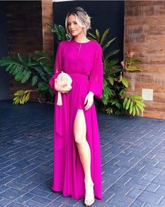 Long Sleeves Prom Dress With Split 1369 - Renee Marino Prom Dresses Prom Dresses Long With Sleeves, Formal Dresses, Wedding Dresses, Chiffon Dresses, Bridesmaid Gowns, Fall Dresses, Long Dresses, Vestidos Color Rosa, Dress For You