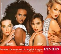 Another genius Revlon Most Unforgettable Woman ad...Talisa Sota was so exquisite