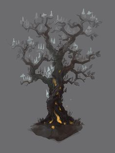 Magic tree_sketch, Yana Pronskaya on ArtStation at https://www.artstation.com/artwork/LZ6a0