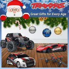 Traxxas Great Gifts For Everyone Age Every Him Her Kids Grandson Granddaughter Father Brother Grandfather Mother R/C Radio Control Remote Car Truck Boat Helicopter Quadcopter 4WD #radiocontroltrucks #radiocontrolledboats