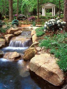 Cascade et  fontaine de jardin , 69 déco pour les moments de relaxe - design-de-jardin-fontaine-cascade