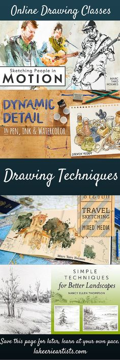 Draw Any Scene That Catches Your Eye In Ink And Watercolor Depict The World Around