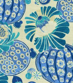 Home Dec Print Fabric-Waverly Copacabana Azure