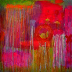 "Francesca Spille for 'PUNKTURE'; Acrylic, 2012, Painting ""'Hole'"""