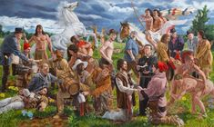 Kent Monkman, Wedding at Sodom, Acrylic on canvas, x Cast The First Stone, Achilles And Patroclus, Phoenix Art Museum, Vancouver Art Gallery, Two Spirit, The Ancient One, Fourth World, Miss America, Artist