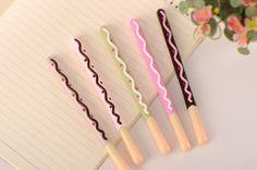 Pocky stick gel pens - Set of 5 by GinkoSupplies on Etsy