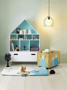 Lámpara con forma de casa